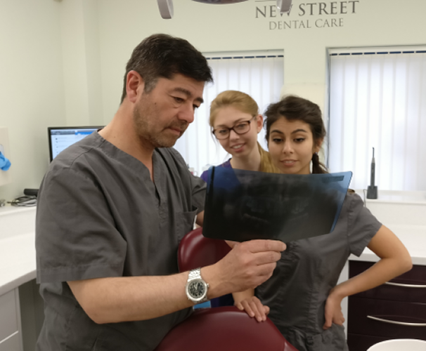 New Street Dental Care team working to help a patient