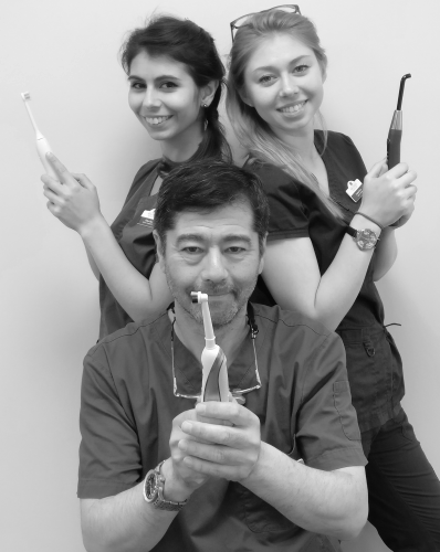 Chloe, Clarissa and Julian Chen, the team members of New Street Dental Care