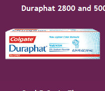 Duraphat 2800 and 5000 ppm Fluoride Toothpaste