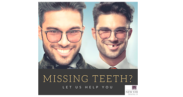 Affects on appearance of missing teeth