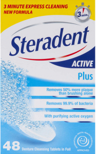 Picture of seradent a denture cleaning solution